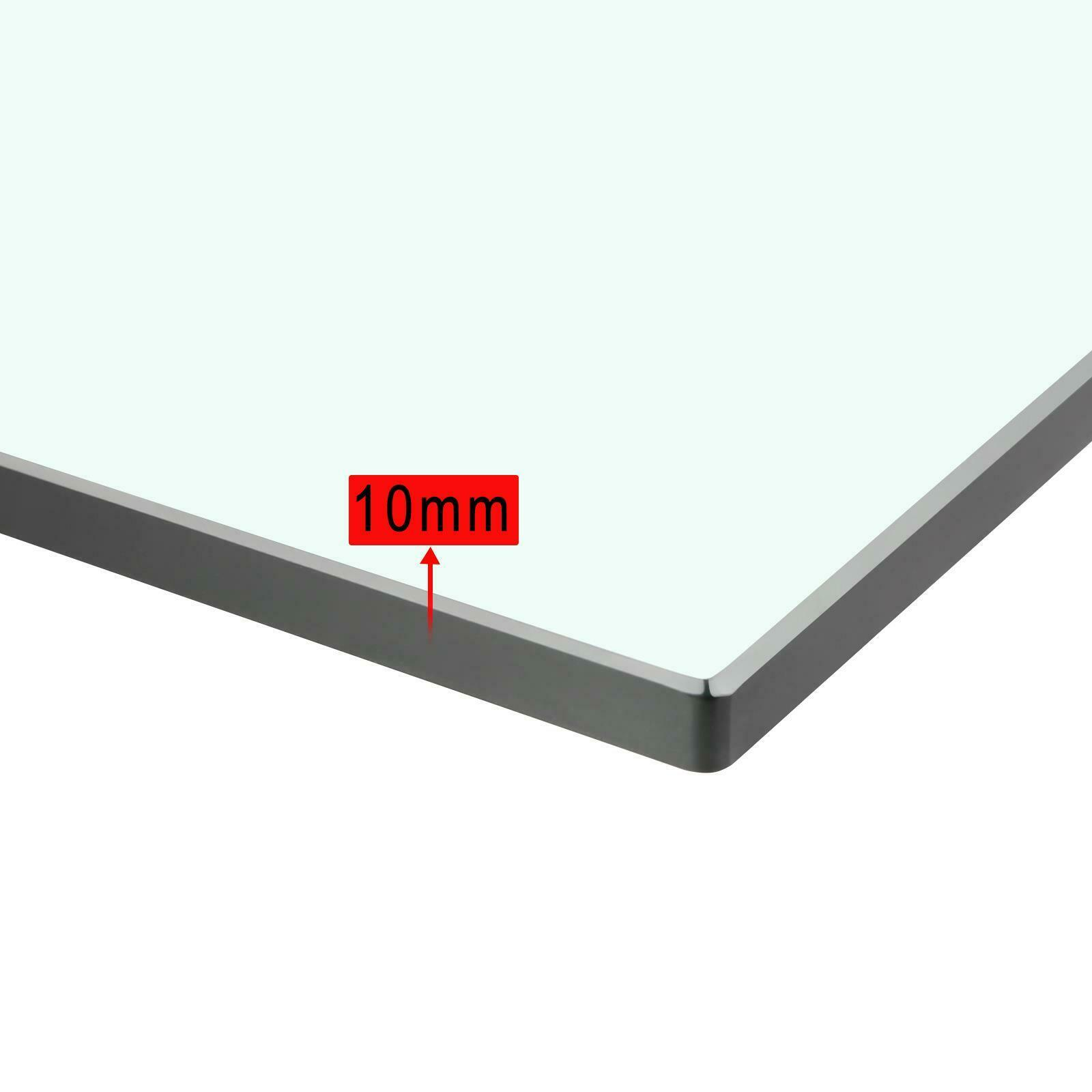 100cm x 40cm CE Certified 10mm Clear Toughened Safety Glass