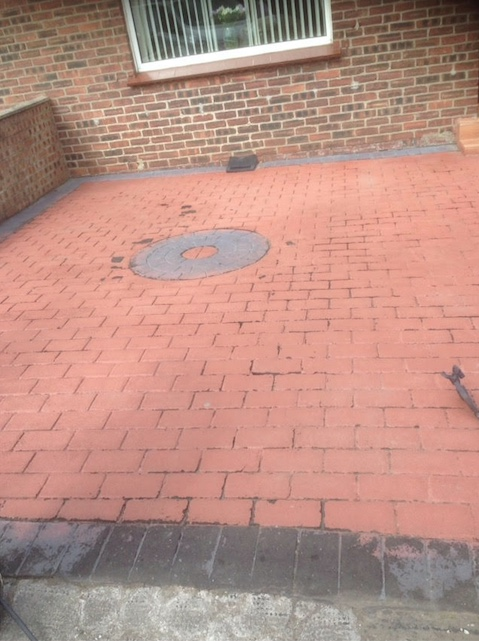 Before image of a block pave driveway
