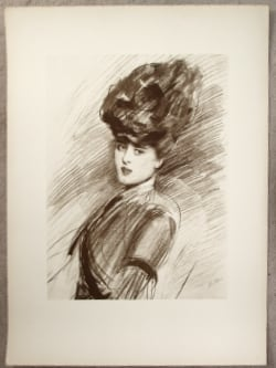 Paul Caesar Helleu -  Portrait of Ellen, the artists daughter