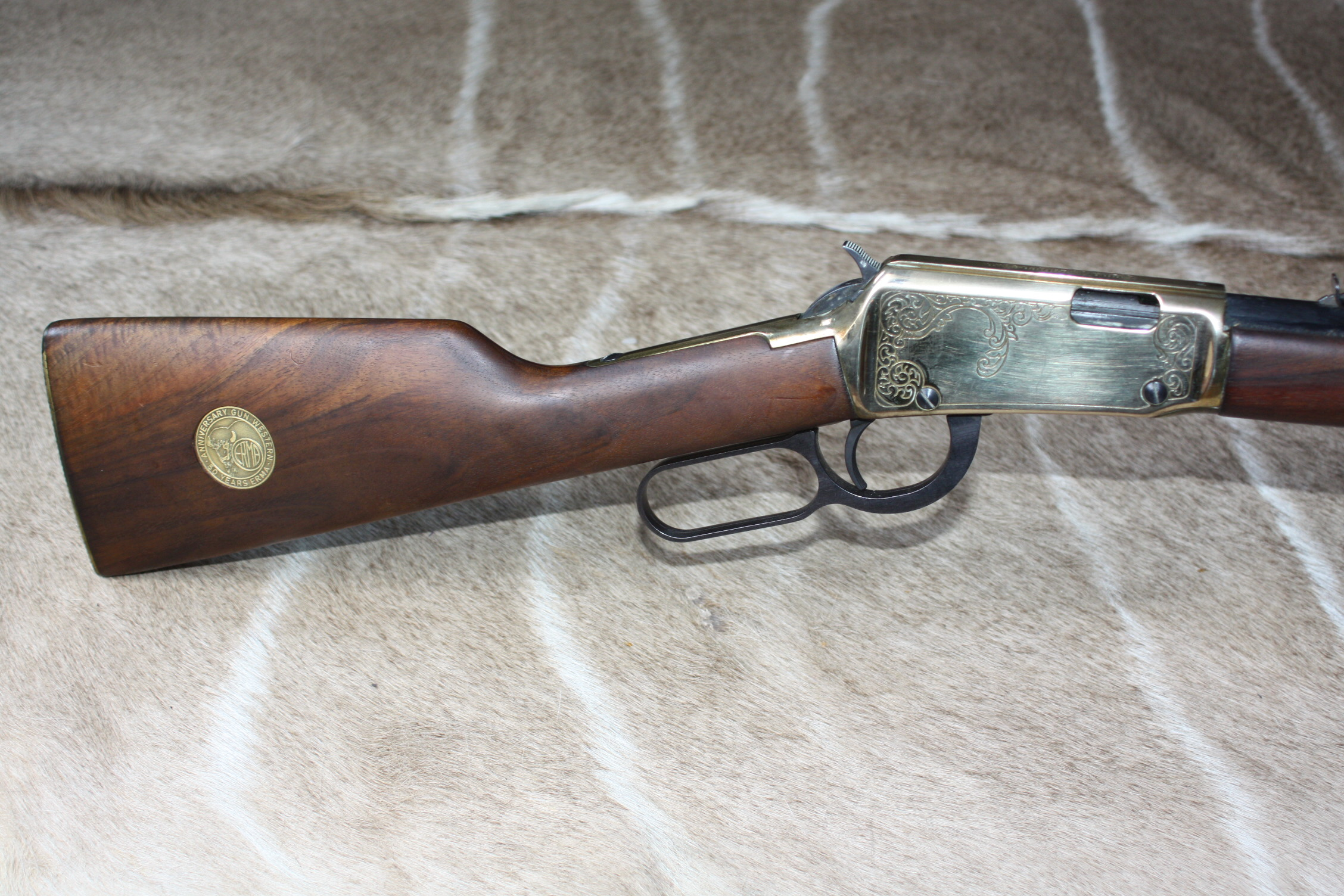 ERMAWERKE 'MOD. EG71W' SPECIAL EDITION 50TH ANNIVERSARY .22LR LEVER-ACTION RIFLE