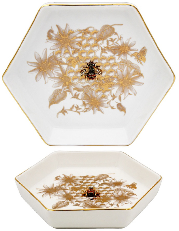 Gold Bee Trinket Dish