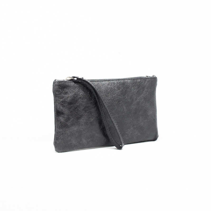 Metallic Leather Clutch Purses in Various Colours
