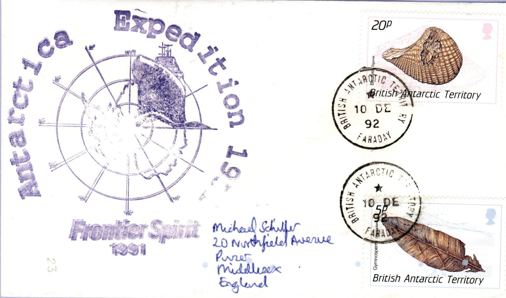 British Antarctic Territory Cover Faraday Frontier