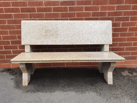 Now the summer is here what better way than to sit on the lovely granite bench and being granite it