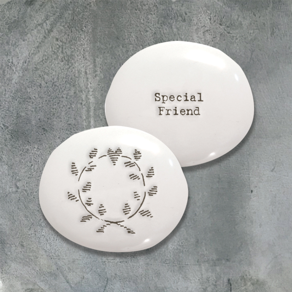 Special Friend - Porcelain Pebble
