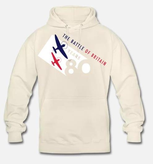 The Battle of Britain 80th Anniversary colour logo unisex hoodie