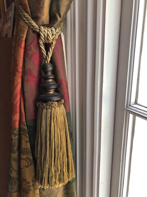 Very Long Pencil Pleat Silk Interlined Curtains W275 D470