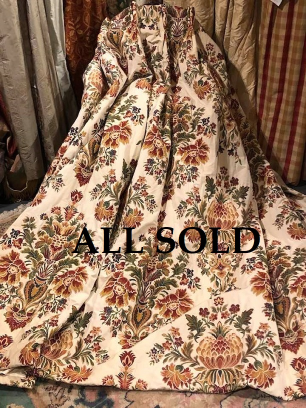 Great thick Brocade Interlined Curtains W154 D200
