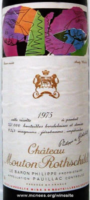 after Andy Warhol - Chateau Mouton Rothschild, Premier Cru Classe en 1975