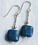 Malachite and Azurite Earrings