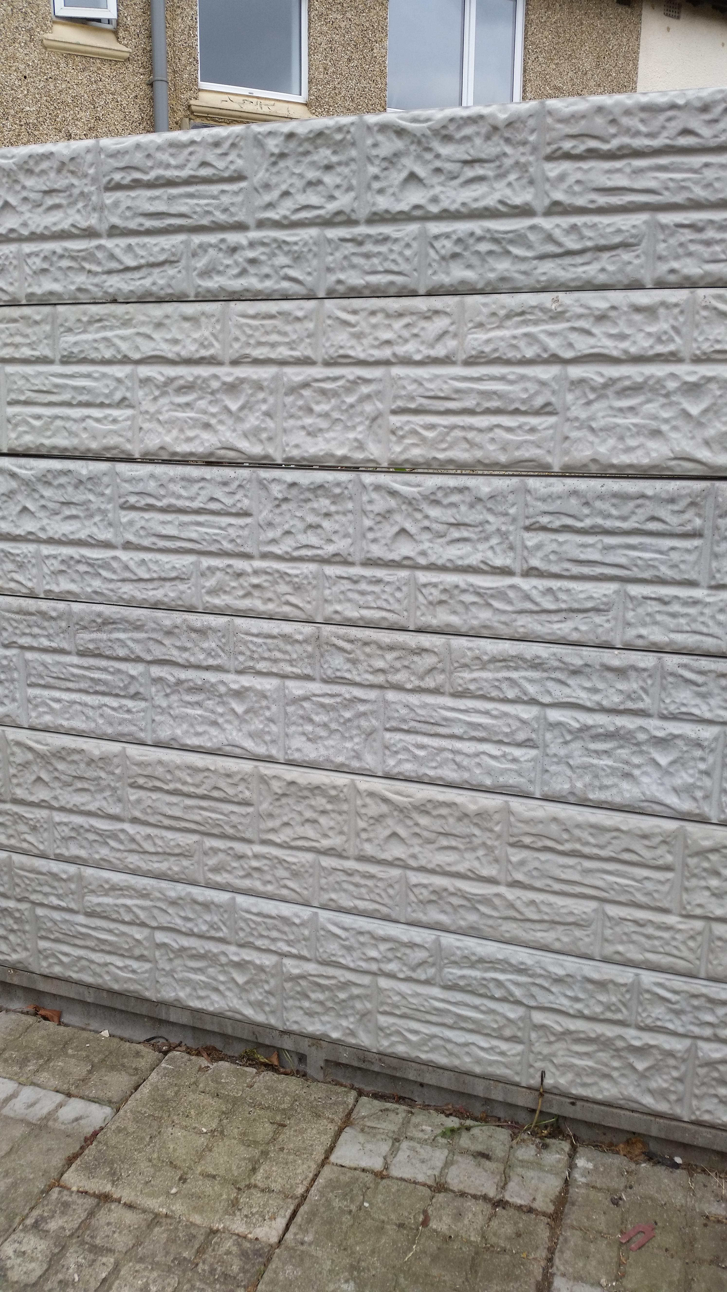 Brick Faced Concrete Gravel Boards