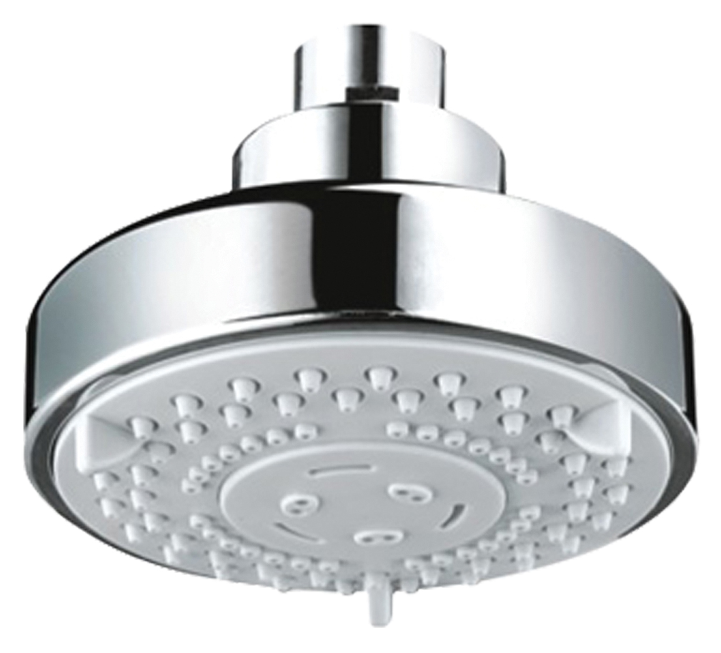 Luxury Five Function Fixed Shower Head - Chrome