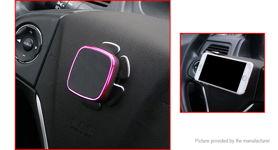 Car Steering Wheel Magnet Cell Phone Holder GPS Stand