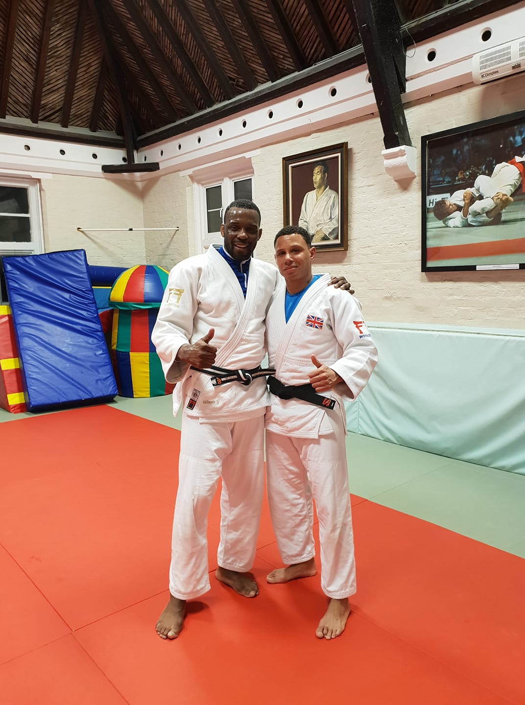 Jason with Winston Gordon, British Judoka and three-time Olympian at the Budokwai.