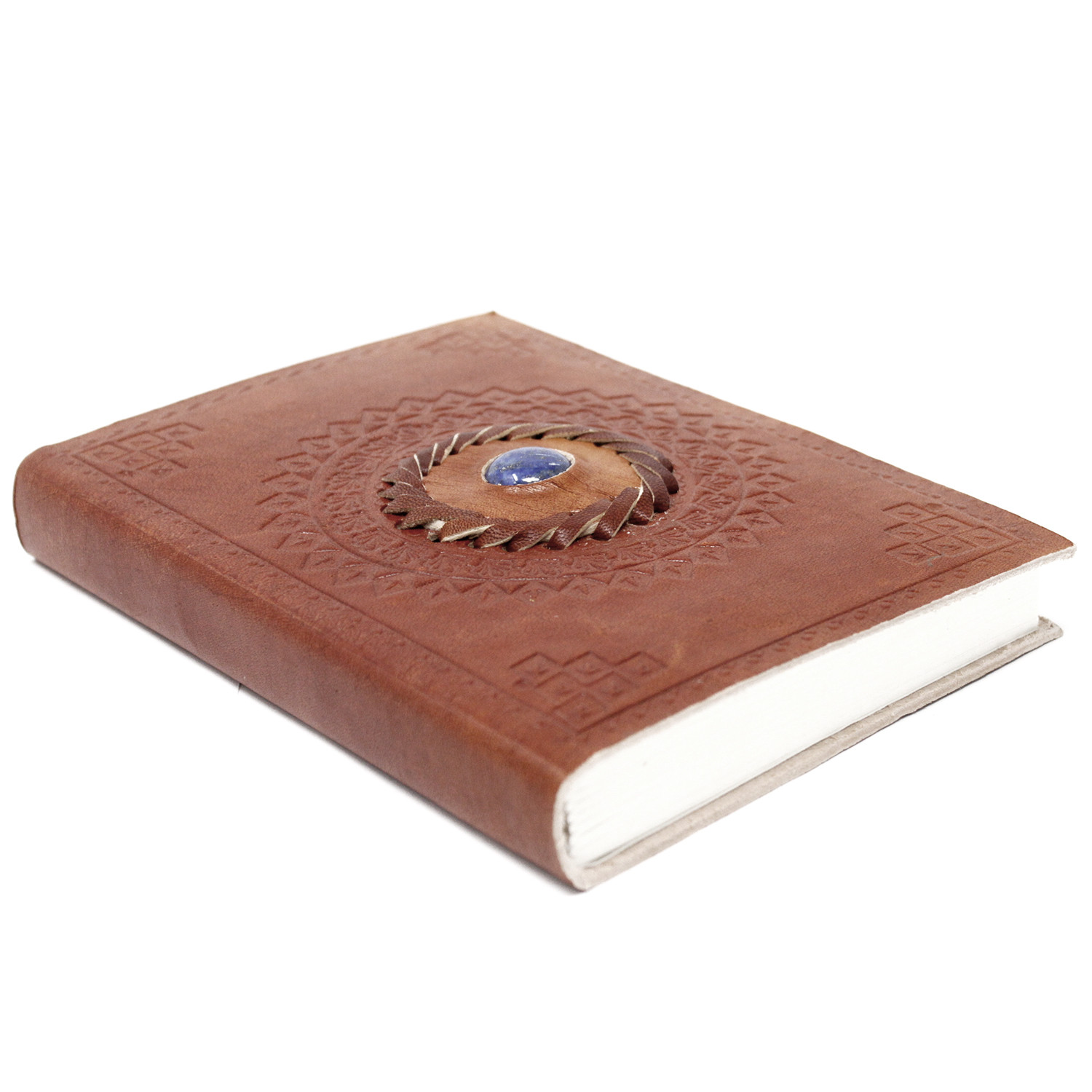 "Leather Lapis Notebook (7x5"")"