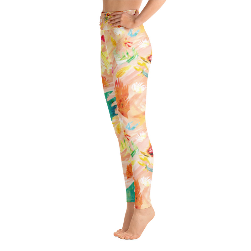 'Tropical Wave' Yoga Leggings