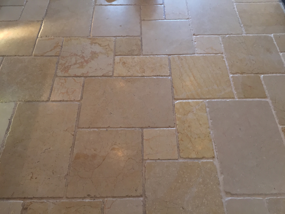 Limestone polishing picture before