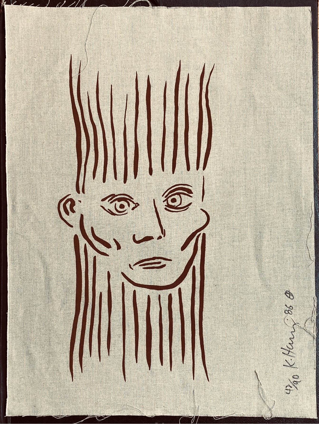 Keith Haring - Portrait of Joseph Beuys