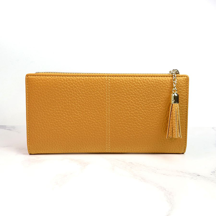 Mustard Faux Leather Purse - Large