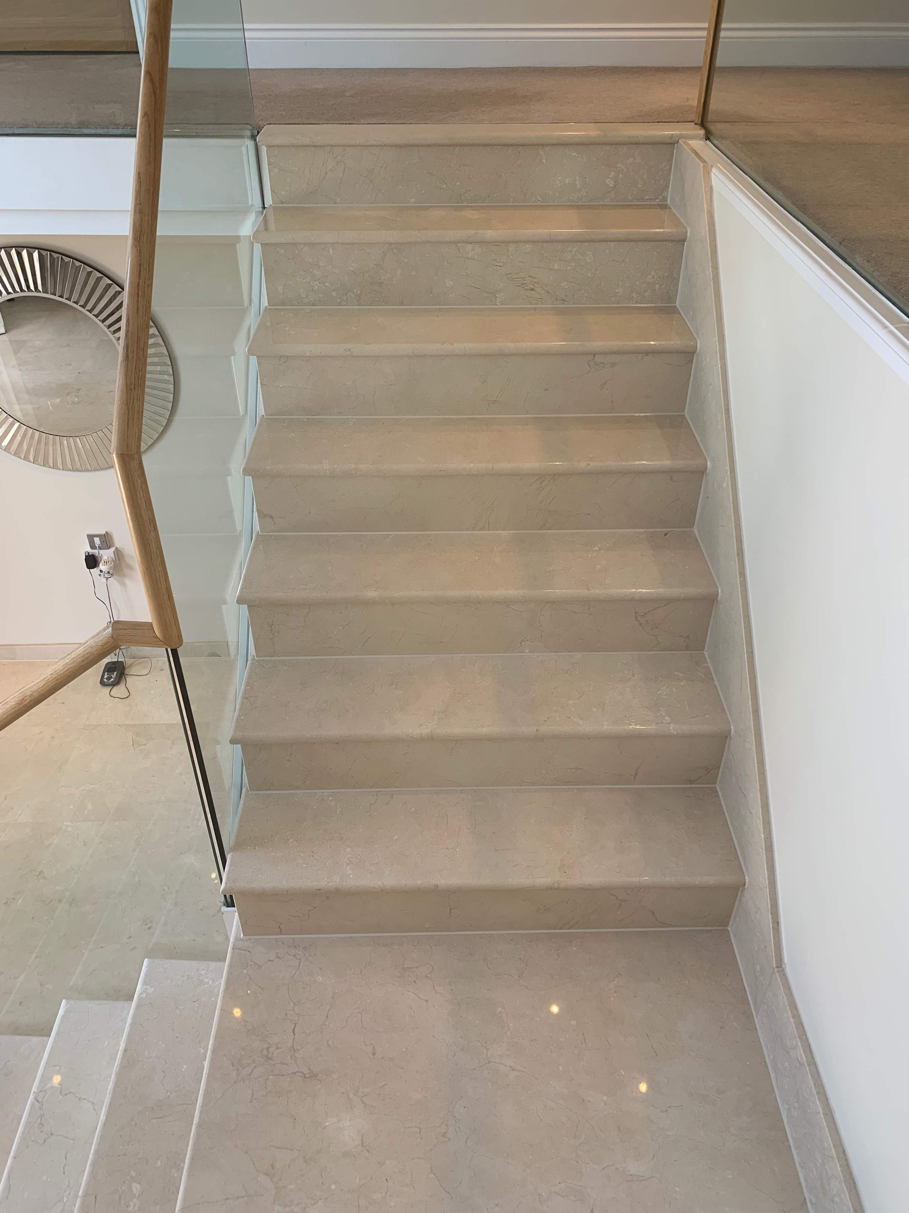 apply silicone to marble steps