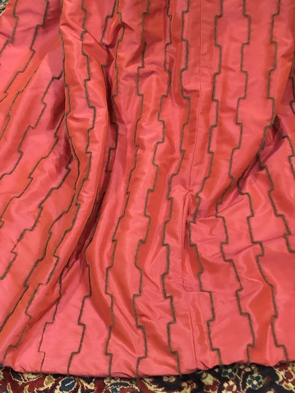 Unusual Pink Silk Goblet Pleat Curtains W220 D216