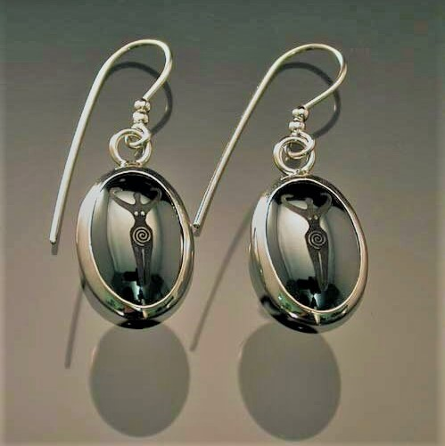 "Haematite Earrings ""Goddess"""