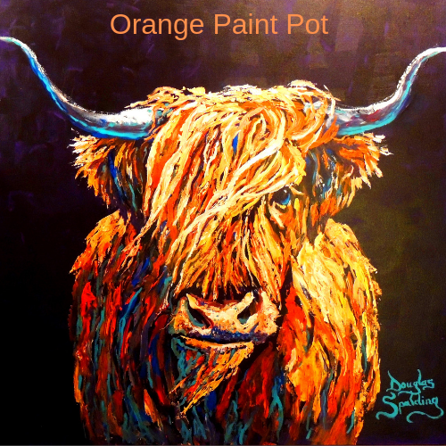 A Pot of Orange Paint
