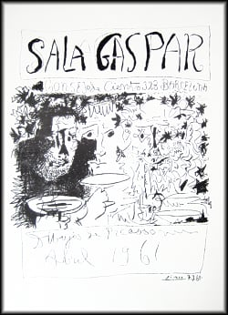 Pablo Picasso  -  Drawings of Picasso: Poster - Sala Gaspar - Three Drinkers