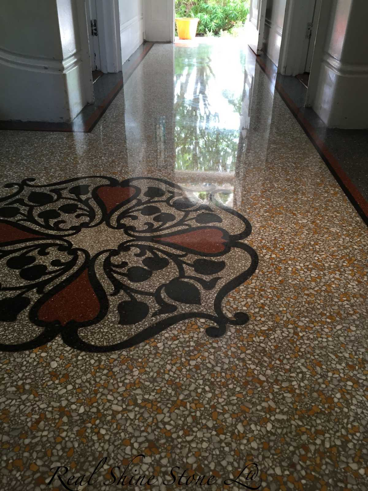 terrazzo polishing mirror look finish