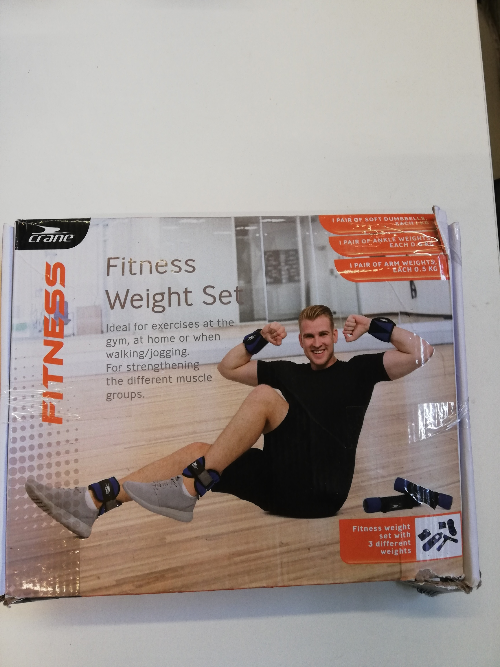 Fitness weight set (only 2 boxed sets remain)