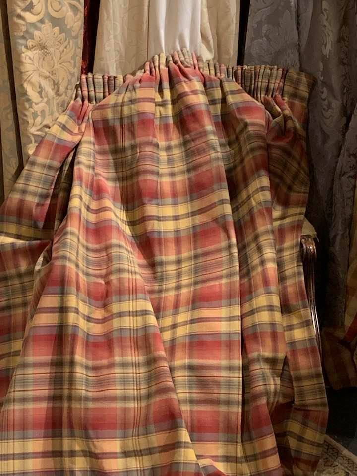 Various Pencil Pleat Interlined Tartan Curtains