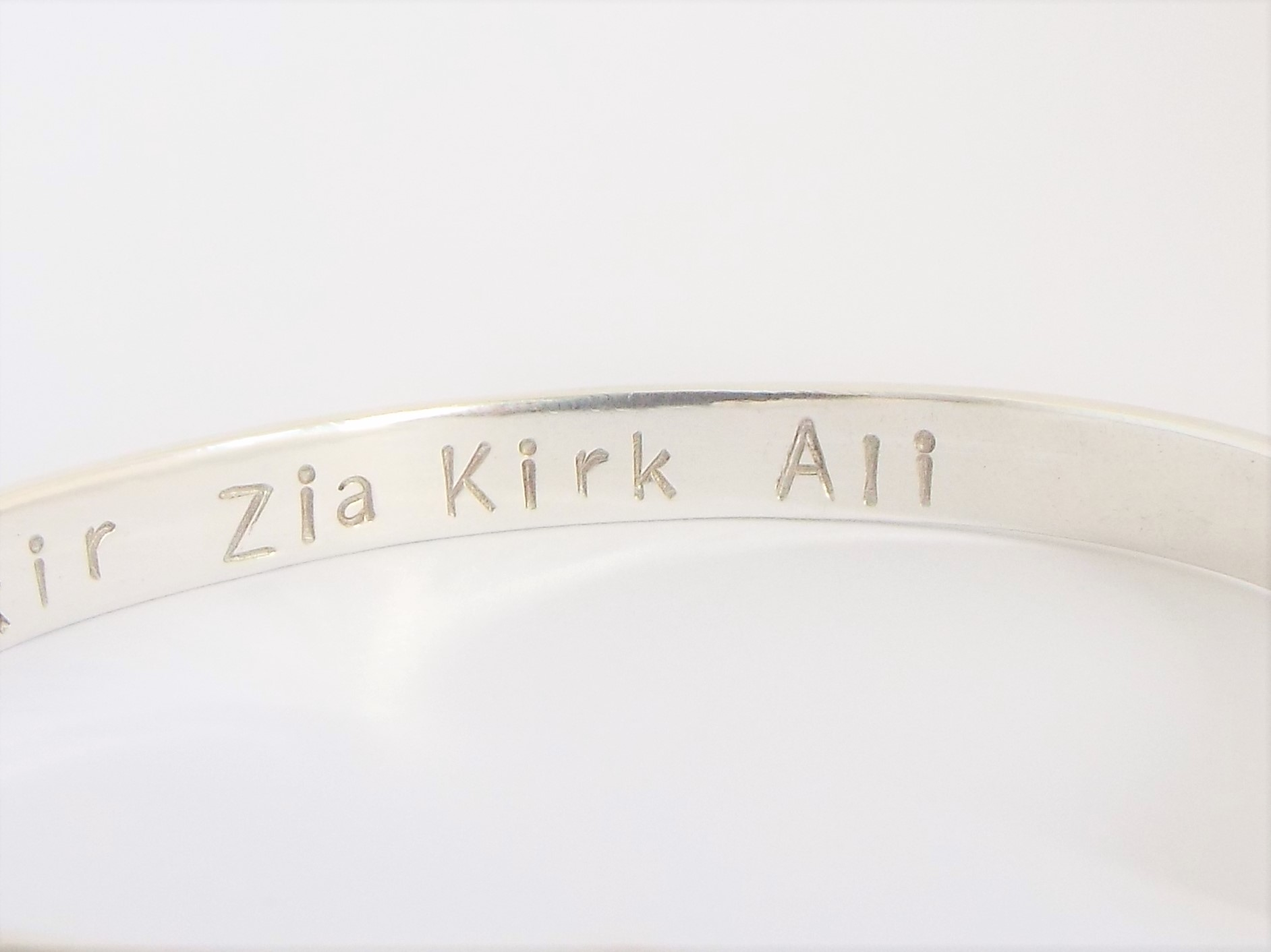 Silver Cuff Bracelet - Slim - Polished finish
