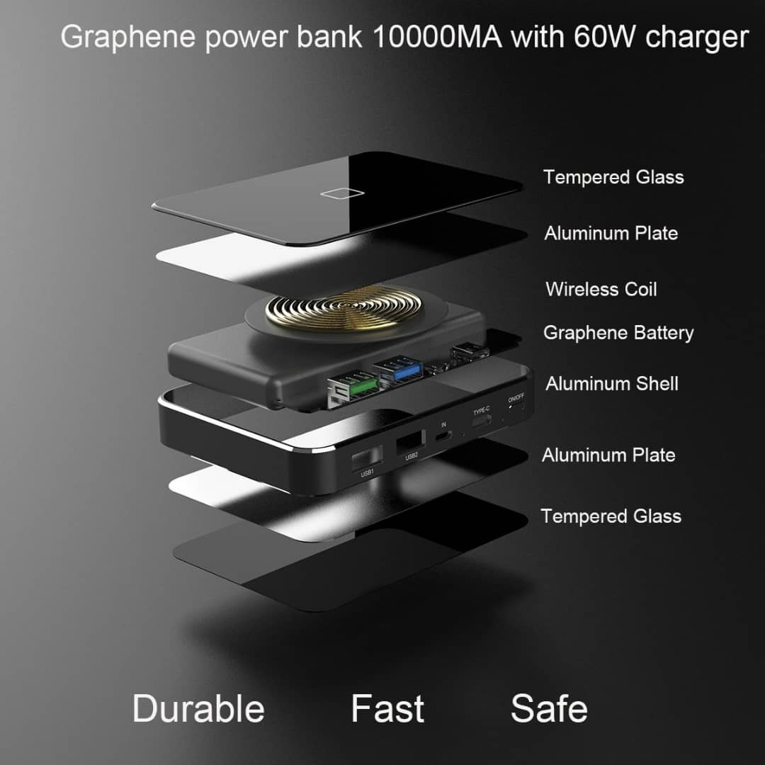Super-G power bank graphene power bank , up to 1000 super fast charges