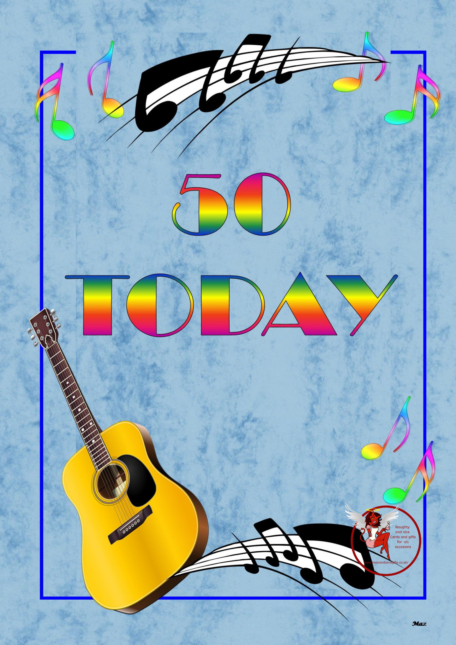 50th Birthday - Guitar- Order No 004