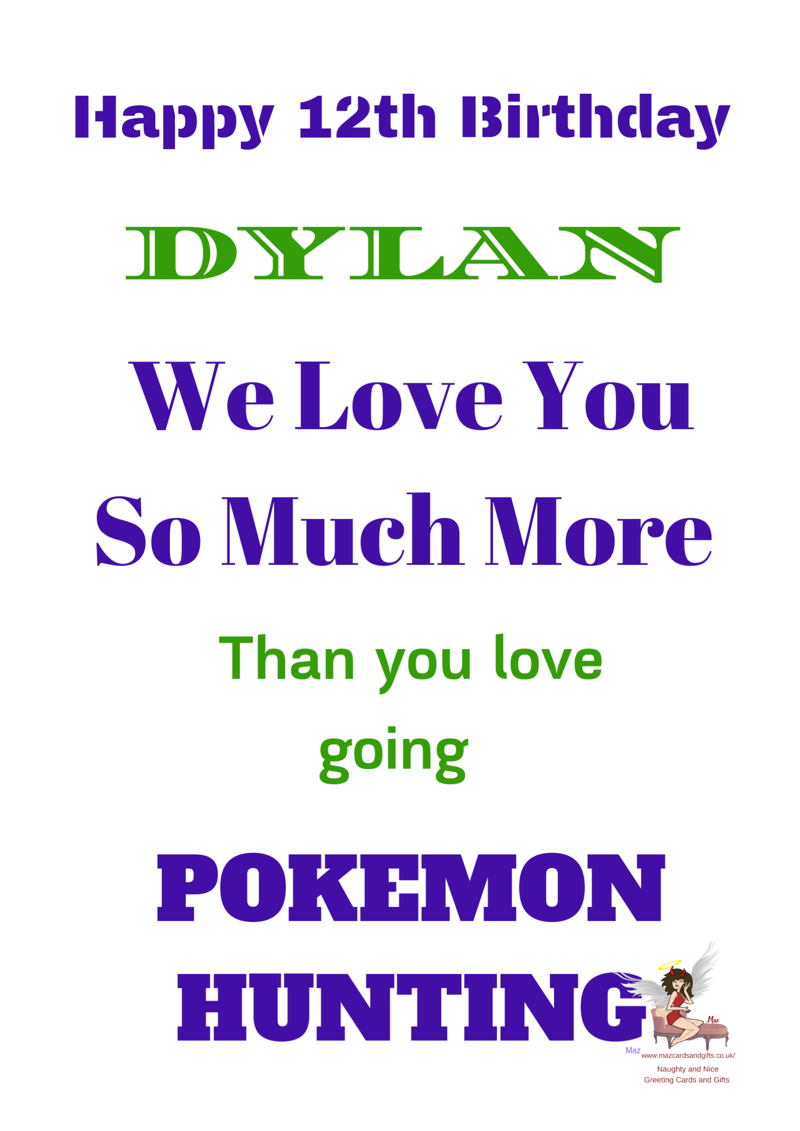 Pokemon Typography Gaming Card ~ Personalised ~ Order No 291