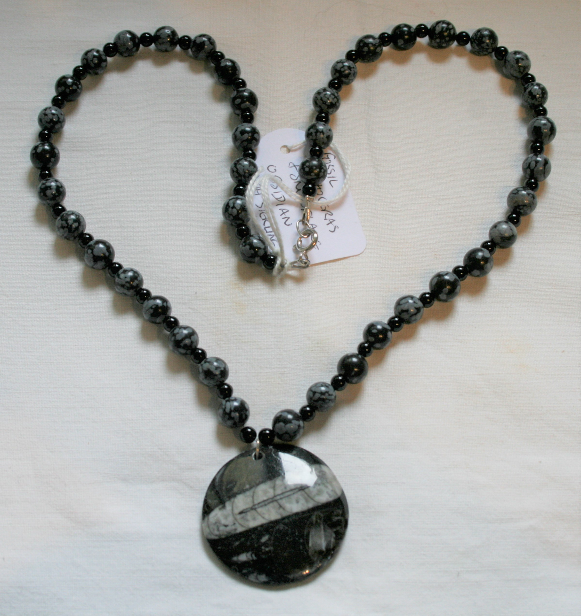 Snowflake Obsidian Necklace