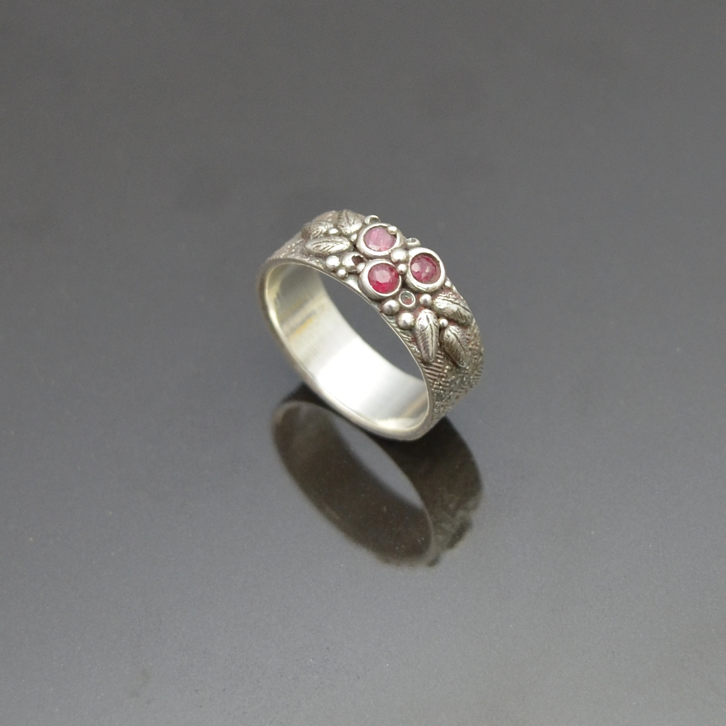 Woodland Berries Ring by Tracey Spurgin of Craftworx Jewellery Workshops