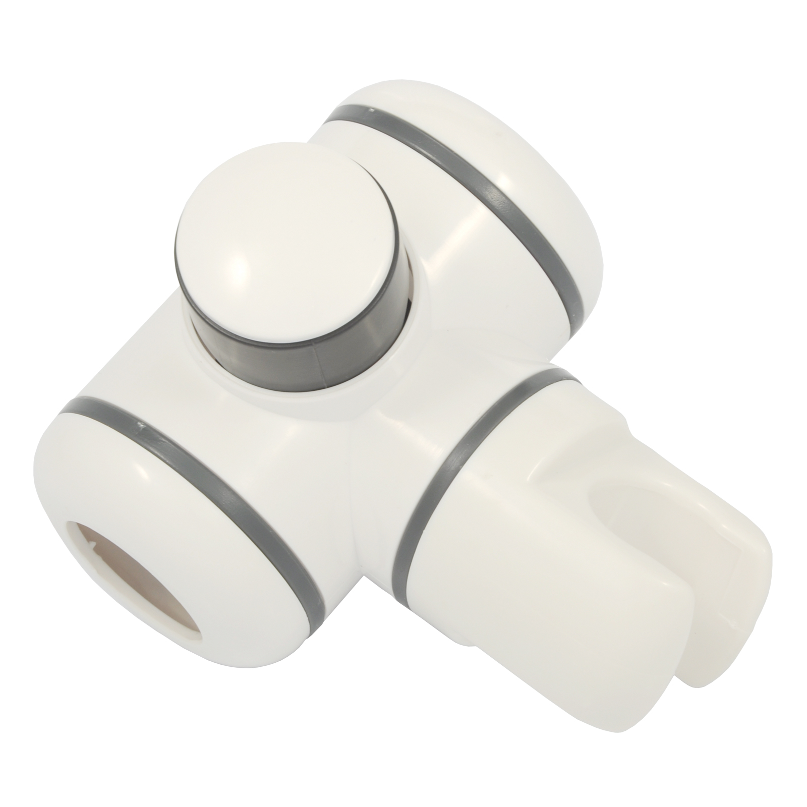 Push Button Shower Riser - White