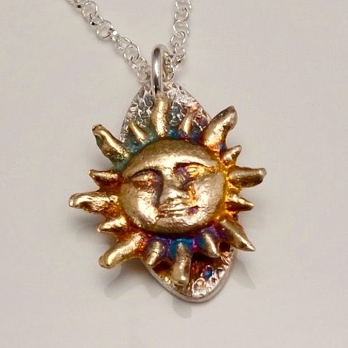 Earth Sun Pendant by Tracey Spurgin