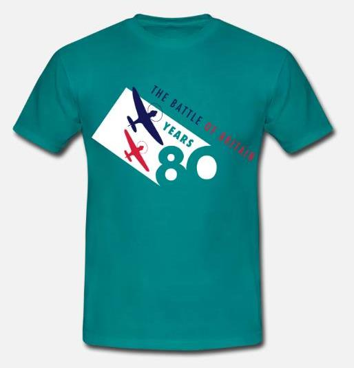 The Battle of Britain 80th Anniversary colour logo men's t-shirt1, Size 4XL