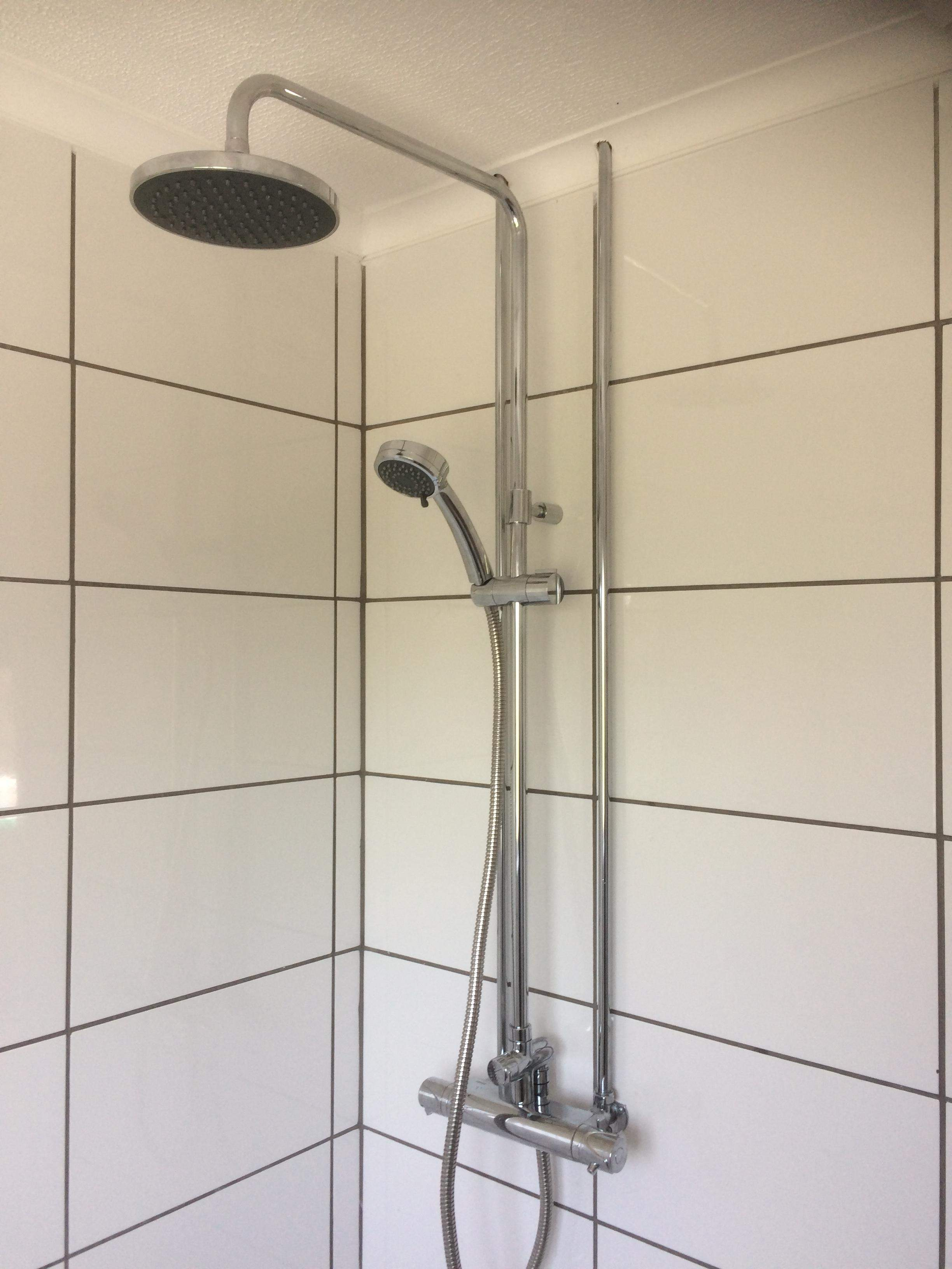 Triton bar shower + rainfall kit