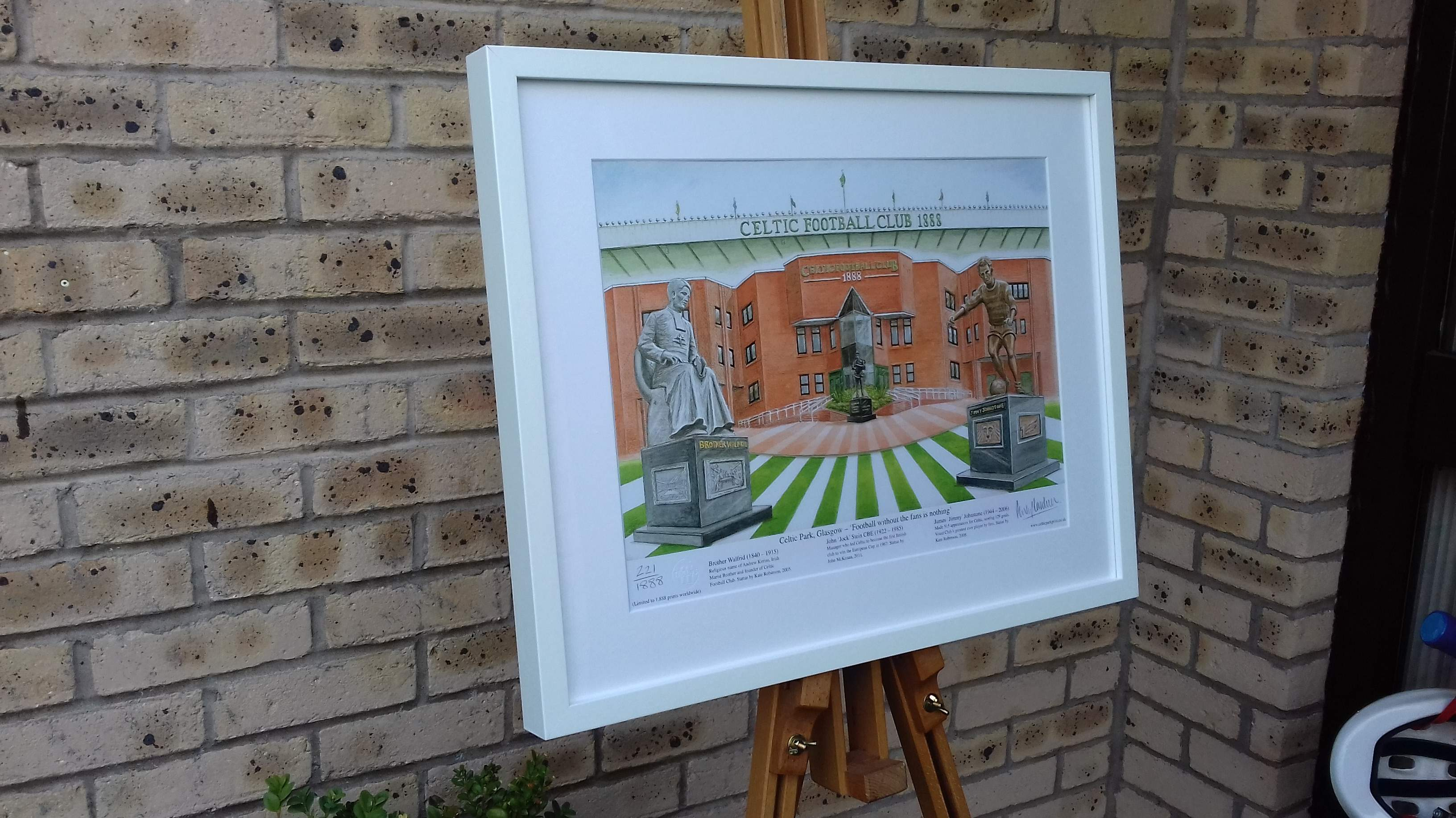 Framed 'Celtic Park - Football without the fans is nothing' art print