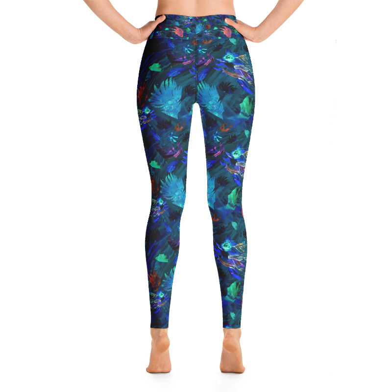 Deep Sea Coral Yoga Leggings