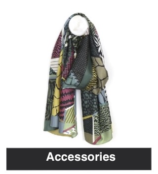 Scarves and other accessories available from Nice Stuff Edinburgh Gift Shop