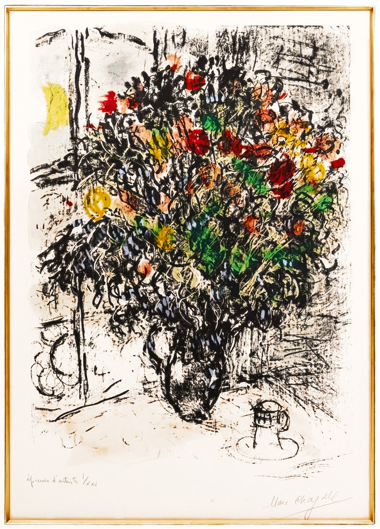 Marc Chagall - Le Bouquet Rouge