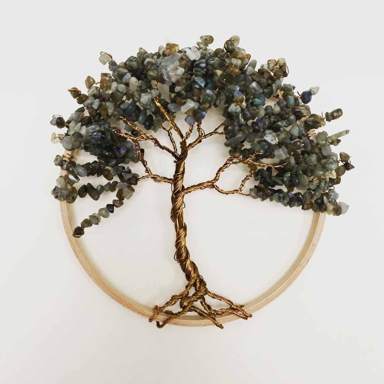 Antique bronze and Labradorite tree of life