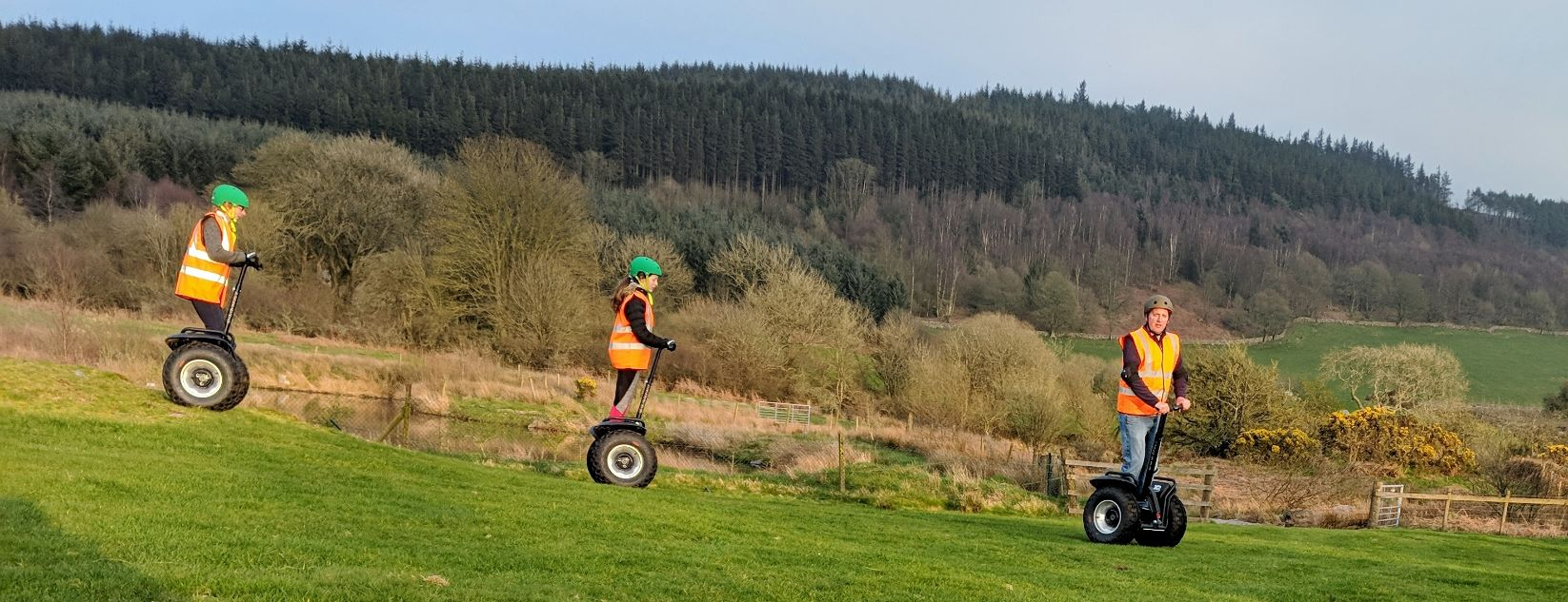Segway tours at Gorsebank Glamping Pods near Dumfries