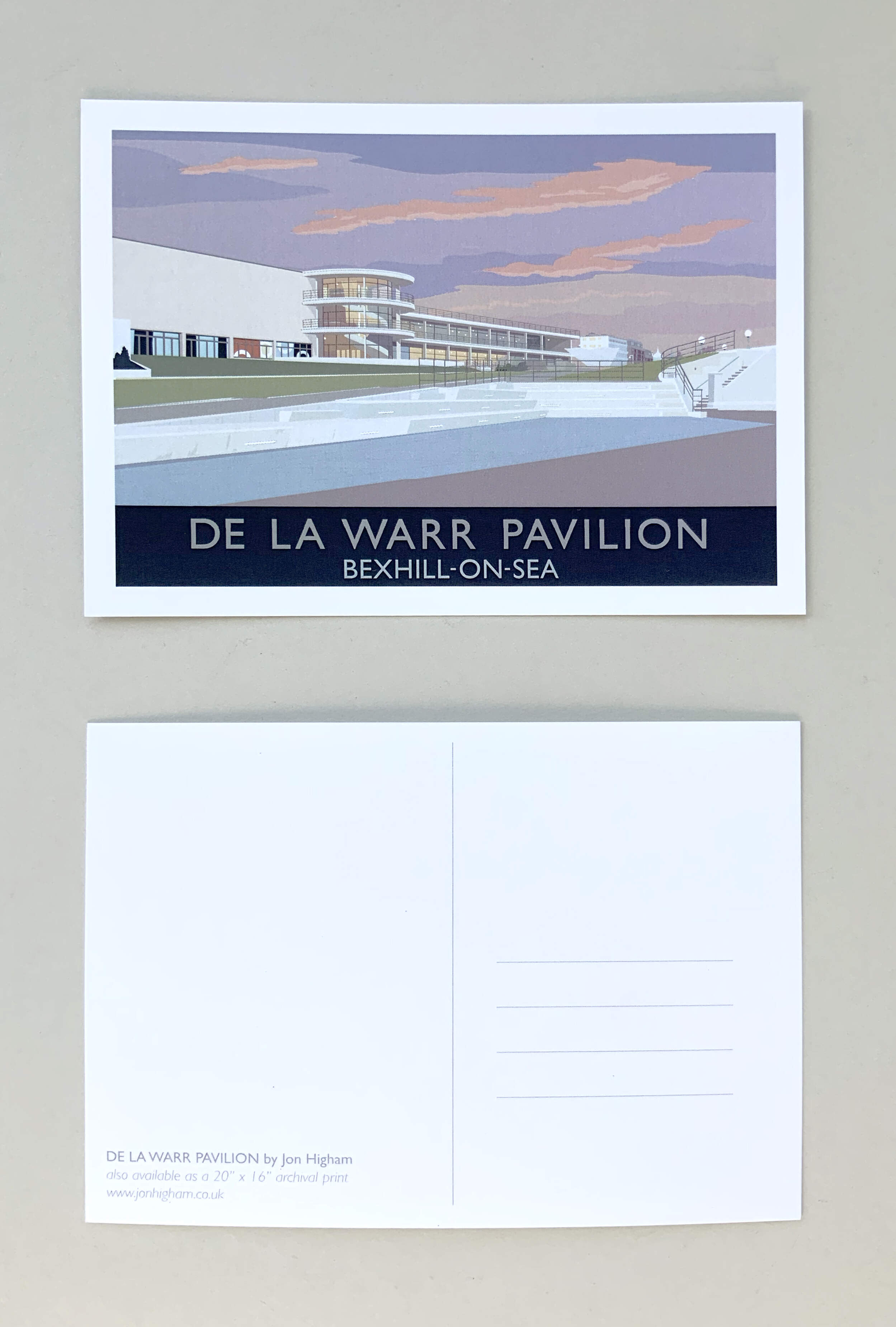 5 X De La Warr Postcards