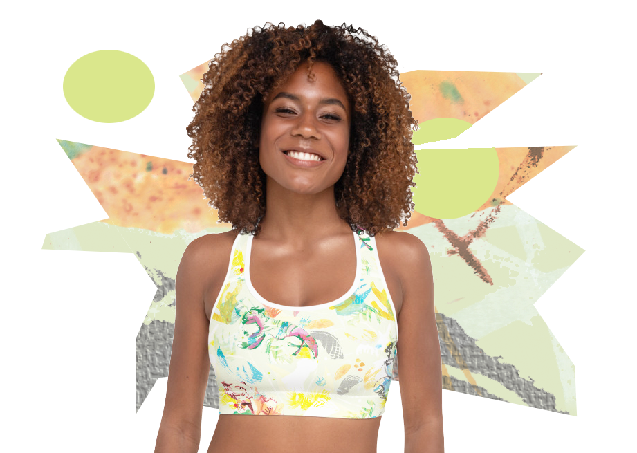 Tiger Summer Padded Sports Bra Top