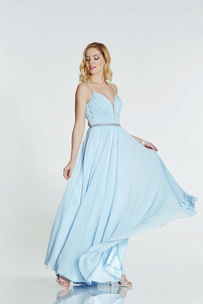 Pale Blue Prom Dress
